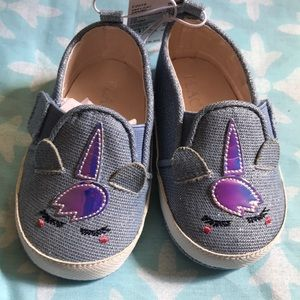 Denim unicorn shoes